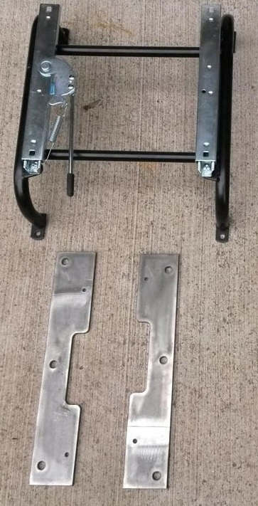 Riser & Slider for 1 Bomber Style Seat