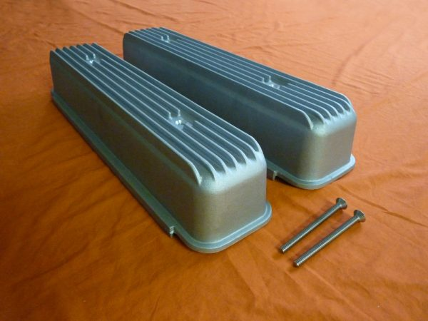 Buick Nailhead Cast Finned Valve Covers - As Cast