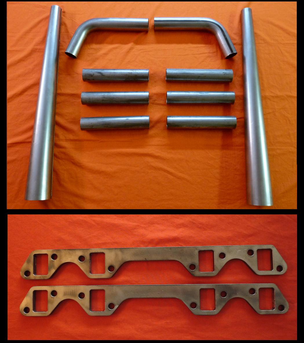 Buick Nailhead 364-425 Exhaust Flange Straight Lake Header Kit