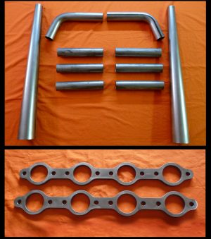 Chevrolet LS1-LS6 Straight Lake Header Kit