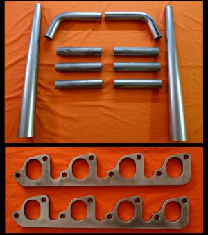 Ford 351C, 351M, 400 Straight Lake Header Kit