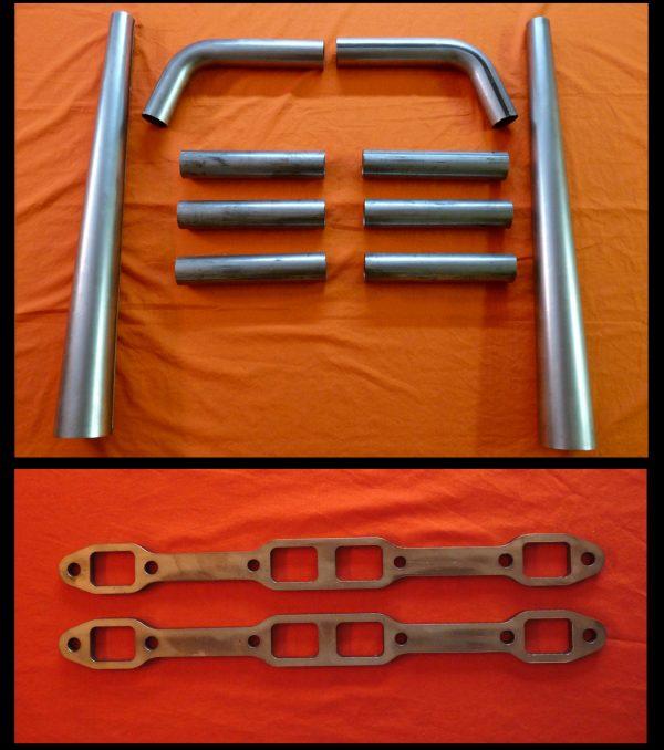 Mopar Big Block 350-440 Straight Lake Header Kit