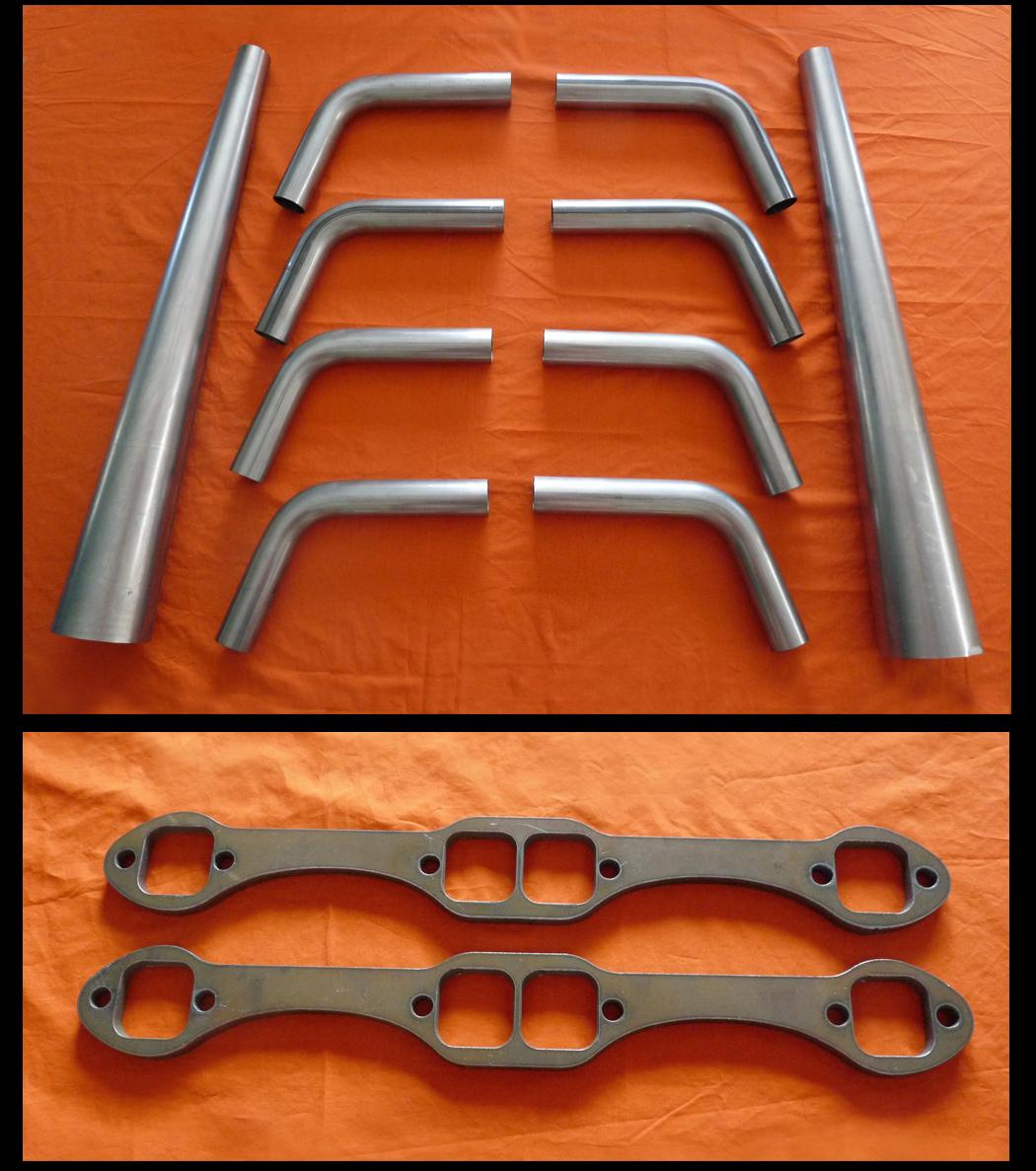 Chevrolet Small Block 265-400 Swept Lake Header Kit (Rectangle Port)