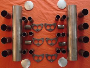 Chrysler Hemi 331-392 Log Intake Kit - 6x2, Stromberg